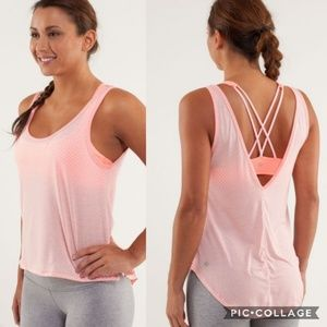 Lululemon Pink Burn It Out Tank Top